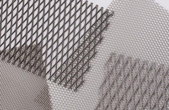 Expanded Diamond Pattern Mesh